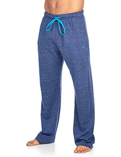 - Balanced Tech Men's Jersey Knit Lounge Sleep Pants - Navy/White Multi Speckle - Large/L