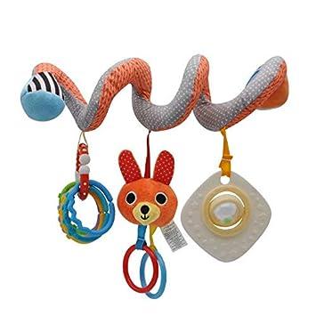 SUNXIN Jouet de Poussette b/éb/é Jouets Animales en Peluche Spirale dactivit/és Hanging Jouets Berceau