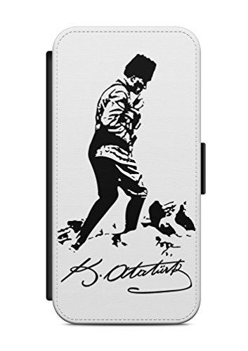 iPhone 7 Atatürk Türkiye 7 Flip Tasche Hülle Case Cover Schutz Handy