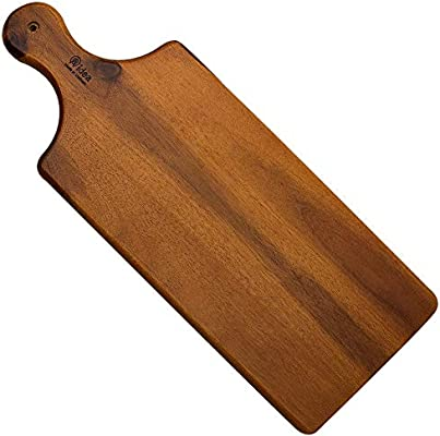 Aidea Wood Cutting Board With Handle Cheese Board Chartuterie Board For Kitchen Party Amazon Sg Home