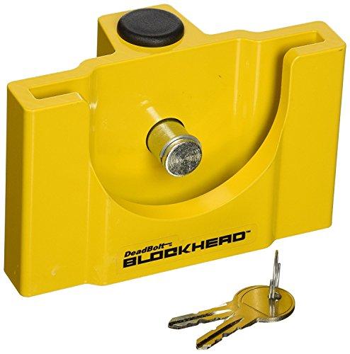 CT Johnson Enterprises (TCL3-YL) Deadbolt Blockhead Trailer Coupler Lock (4)