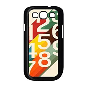 Samsung Galaxy S3 9300 Cell Phone Case Black Retro Numbers WH9456389