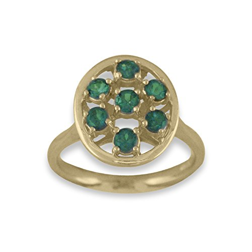 Natural Color Change Alexandrite Ring in 14 K Yellow Gold by Designed by Ellen
