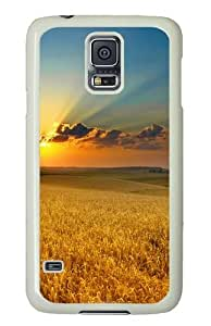 Golden summer field Custom Samsung Galaxy S5/Samsung S5 Case Cover Polycarbonate White