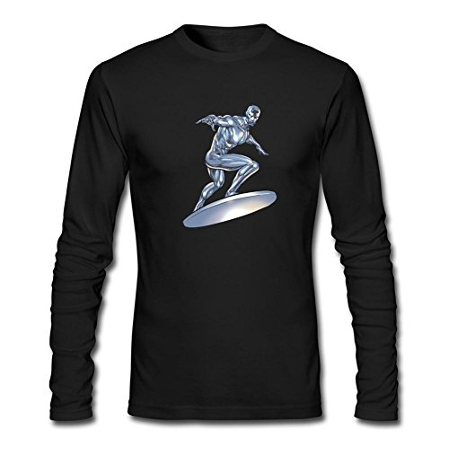 Dotion Men's Silver Surfer Superhero Long Sleeve T Shirt