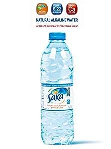 Saka Alkaline Spring Water 16.9 Oz (Pack of 24). 8.22pH with Electrolytes.