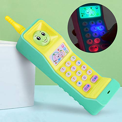 bromrefulgenc Mobile Phone Baby Learning Toy, Study Educational Toys with Cartoon Music Colorful Light and Voice Electronic