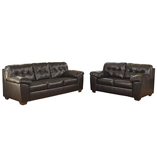 Flash Furniture Signature Design by Ashley Alliston Living Room Set in Chocolate DuraBlend