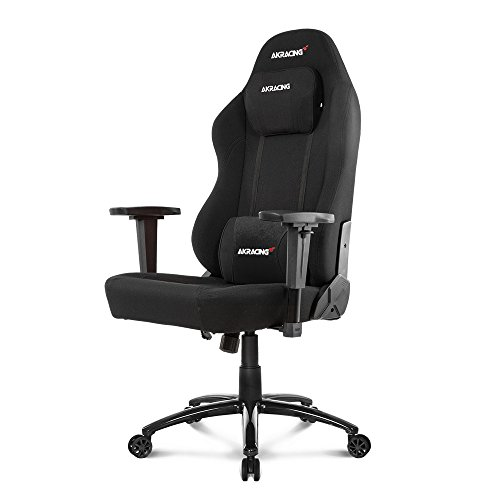 AKRacing Office Series Opal Ergonomic Fabric Computer Chair with High Backrest, Recliner, Swivel, Tilt, Rocker and Seat Height Adjustment Mechanisms with 5/10 warranty - Black (Adjustment Height Mechanism)