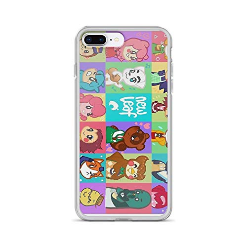 iPhone 7 Plus/iPhone 8 Plus Case Cases Clear Anti-Scratch Animal Crossing: New Leaf, Animal Crossing Cover Case for iPhone 7 Plus, iPhone 8 - New Villager Drew