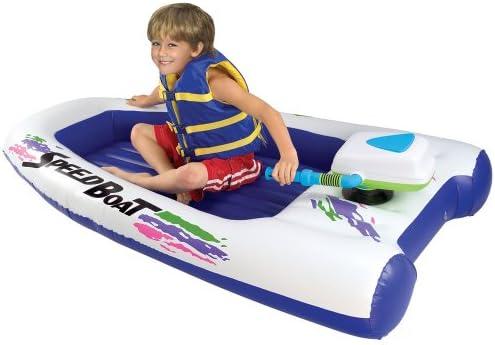 Excalibur Motorized Inflatable Speed Boat Amazon Co Uk Toys Games