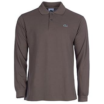 08f766a47b Lacoste Mens Long Sleeve Polo Brown Medium: Amazon.co.uk: Clothing