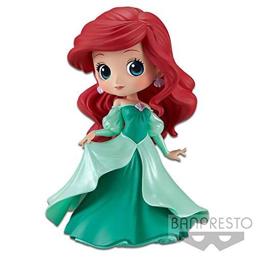 Qposket Banpresto Figura Colecci/ón Ariel 14cm Vestido Princesa Color Verde La Sirenita Little Mermaid Disney Characters Princess Dress Versi/ón A