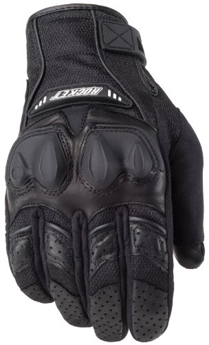 Rocket Joe Black Mesh Glove (Joe Rocket 1056-1003 Men's Phoenix 4.0 Motorcycle Riding Gloves (Black/Black/Black, Medium))