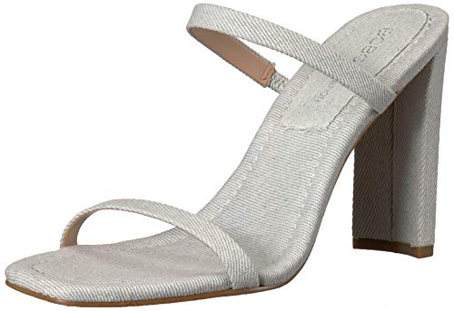 BCBGeneration Women's Whitney Sleek Mule Heeled Sandal, Light Blue, 7 M US ()