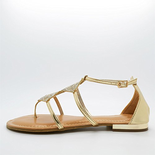 doré Footwear Or Gladiator London femme AHSgYpc