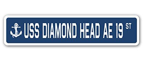 (USS Diamond Head AE 19 Street Sign us Navy Ship Veteran Sailor Gift)
