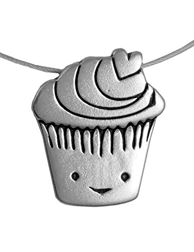 Price comparison product image Love Muffin/Cupcake American Made Sterling Silver Charm Necklace