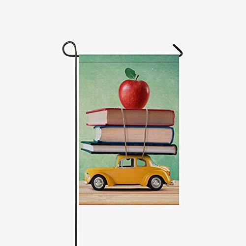 InterestPrint Back To School Polyester Garden Flag House Ban