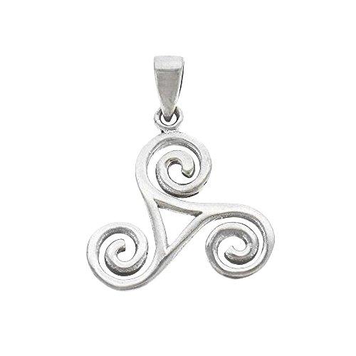 Sterling Triskele Silver (Celtic Triskele Sterling Silver Pendant)