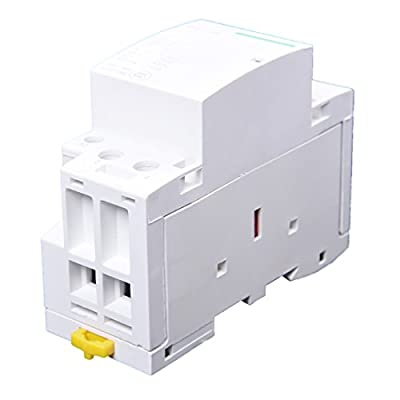 TOOGOO(R) 220-240V AC coil 35mm DIN rail support 2 poles 40A contactor