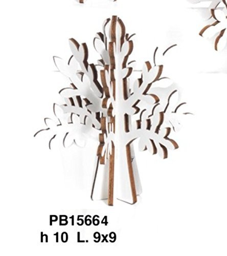 24piezas Árbol la Vida de madera blanco Part de 10cm BOMBONIERA
