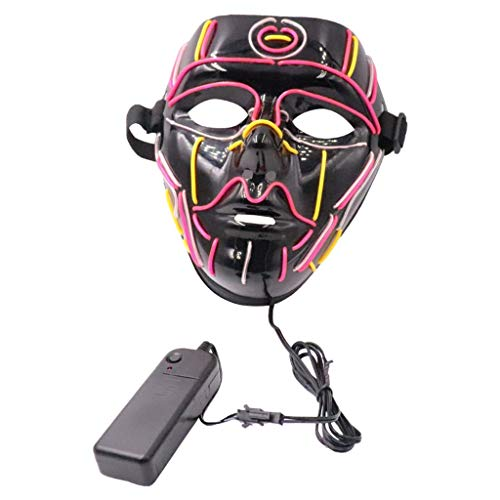 Scarey Clown Makeup (Halloween LED Light up Mask for Festival Cosplay Costume Masquerade)