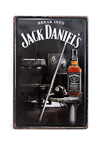 NaCraftTH Jack Daniel's Whiskey Metal Iron Tin Sign Retro Vintage Hanging Wall Art Pub Bar Decor, 8
