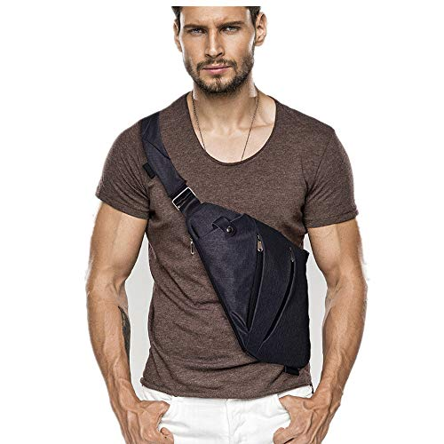 Oriental Selection Sling Bag, Shoulder Chest Crossbody Backpack Small Daypack for Outdoor Hiking Men & Women (Black)