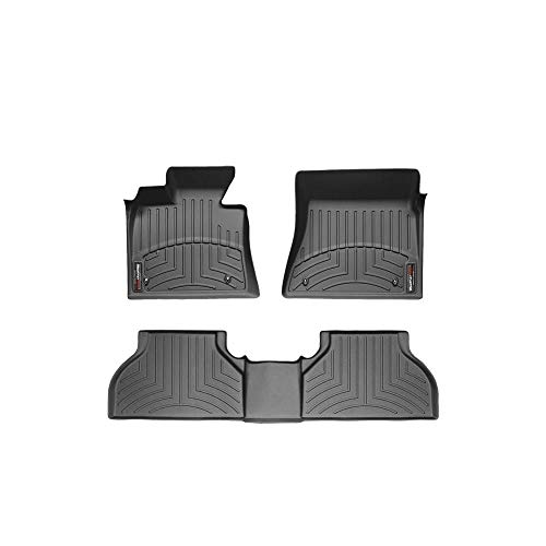 Weathertech 44573-1-2 Front and Rear Black Floor Liners for 2014-2017 Jeep Wrangler Unlimited
