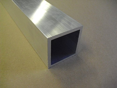 3'' Aluminum Square Tube 1/4'' wall x 48'' long 6061 Square Tube Mill Finish by TNT Metals
