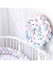 RedKids Bedslinger Baby gevlochten bedomranding, 3 weven, 2 m/2,5 m/3 m, bedomranding, hoofdbescherming, bumper, decoratie voor wieg kinderbed, lengte 2 m