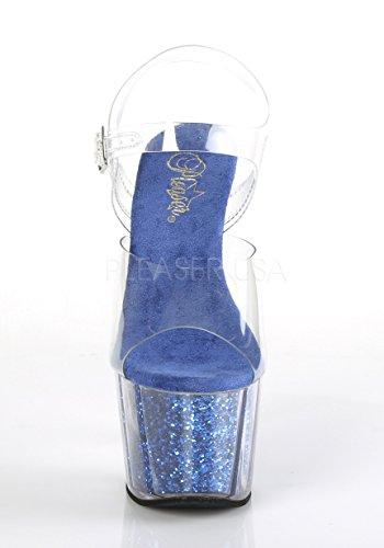 Femme royal c Inserts Glitter Blue Plateforme Pleaser Ado708g Sandales Clr s Xwpfpq