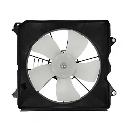 Radiator Cooling Fan Assembly (Denso) Driver Side for 08-10 Honda Accord 2.4L (Side Motor Cooling Fan Radiator)