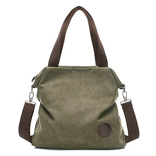 Mfeo Womens Casual Canvas Shoulder Bags Messenger Bags Crossbody Bag Tote Bags Handbag