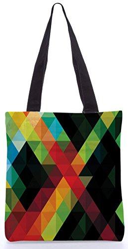 Snoogg Digitale Aztec Revolution13.5 x 15 Zoll-Shopping-Dienstprogramm-Einkaufstasche aus Polyester-Segeltuch gemacht