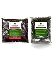 Kit Adubos para Rosa/Flor do Deserto - 1kg de Substrato Organico + 250g de Carvão Vegetal