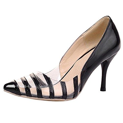 Black Tacco Razamaza Donna Decolte Moda Con Scarpe ARPTAS