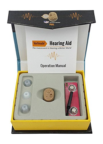 Vorfreude Left or Right Ear Hearing Enhancement Amplifier Aid ITC (In the Canal)