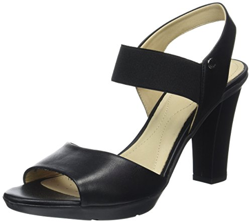 Geox D721VA00085, Sandalias de Tacón Mujer Negro (Blackc9999)
