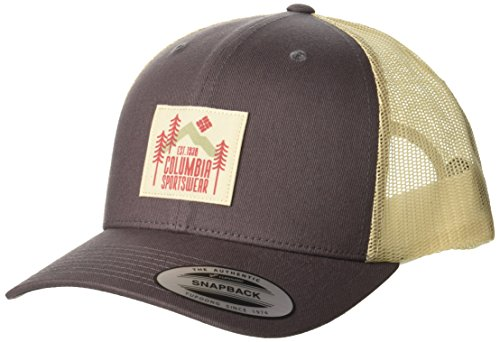 - Columbia Men's Mesh Snap Back Hat, Pulse, Evergreen Patch, O/S