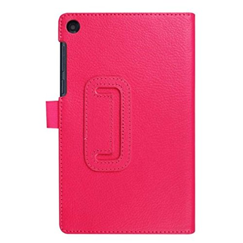 For Lenovo Tab3 7 Essential Case, HP95(TM) Fashion Ultra Slim Flip Stand UP Floding Leather Case Cover for Lenovo Tab3 7 Essential 710F (Hot Pink)