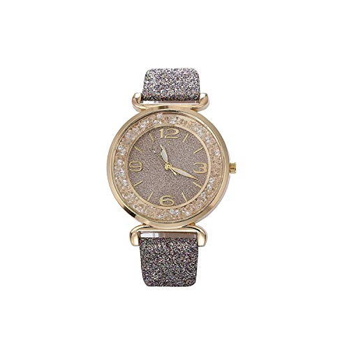 Watch Women Watches Crystal Rhinestone Stainless Steel Quartz Wristwatches,Gray ()