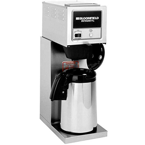 Bloomfield 8774-A Integrity Airpot Brewer, Pour-Over Option, Stainless Steel, 14 1/4