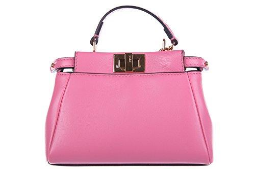 bf589e501dde9 Fendi Leder Handtasche Damen Tasche Bag micro peekaboo rosa - die ...
