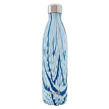 S'well Women's Santorini 17oz Water Bottle, Blue/White, One Size