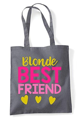 Dark Best Friends Bag Friend Shopper Bff Tote Matching Statement Grey Blonde SFqBzq