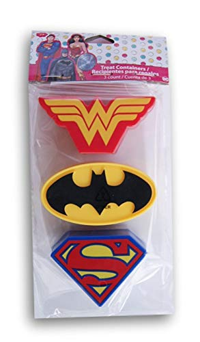 Holiday Decor Superhero Logo Easter Treat Containers - Wonder Woman, Batman, Superman - 3 -