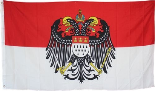ALBATROS 3 ft x 5 ft ft Cologne with Eagle German City Flag Rough Tex Knitted Banner for Home and Parades, Official Party, All Weather Indoors Outdoors ()