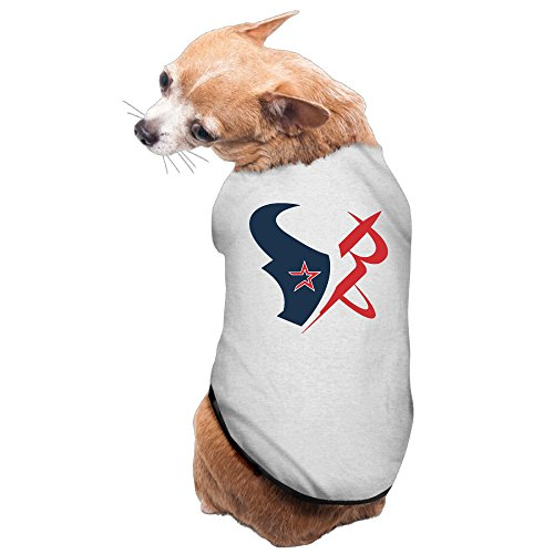 MEGGE Houston Taem Texans Cute Puppies And Dog Tshirts Gray M